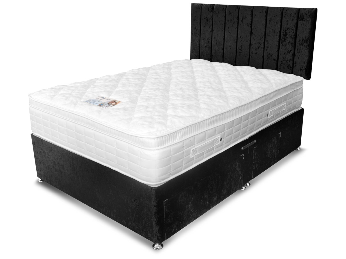 6ft super king size sleep shop pocket bliss divan set from for Super king size divan