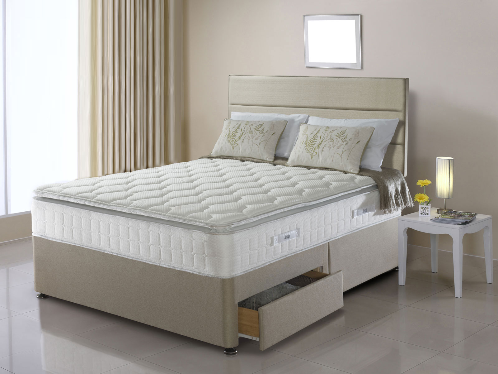 6ft super king size sealy nostromo divan set from the for Super king divan set